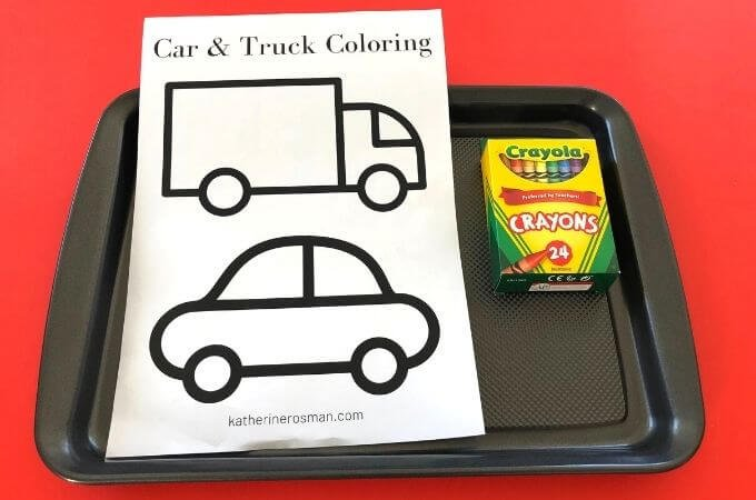 Car and Truck Coloring Simple