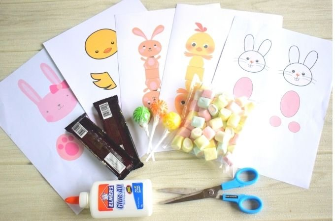 Easter Candy Craft Materials