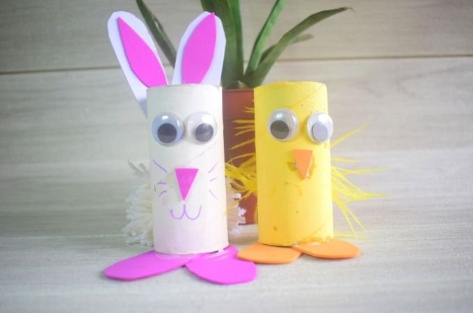 How to Make a Toilet Roll Easter Craft