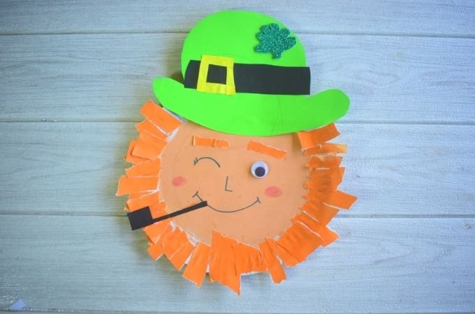 How to make a paper plate leprechaun craft