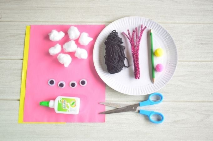 Paper Plate Easter Bunny Materials