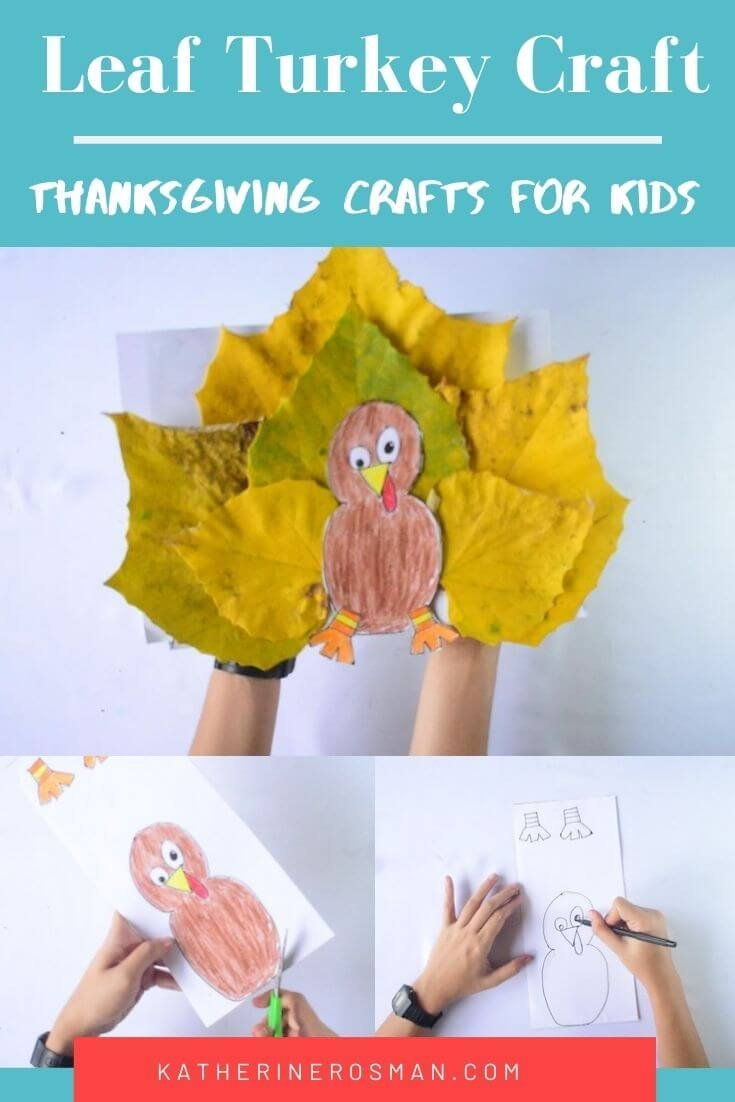 Thanksgiving Turkey Craft for kids with Leaves