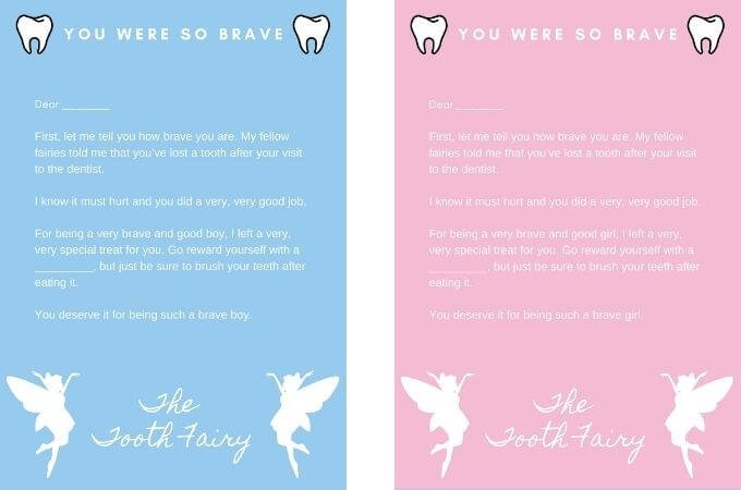 Tooth Fairy Letter - Dentist