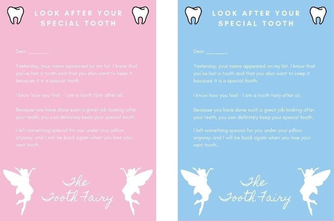Tooth Fairy Letter - Keep Tooth