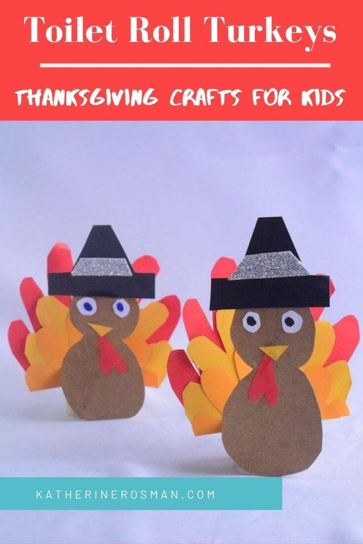 Turkey Craft Made From Toilet Paper Roll