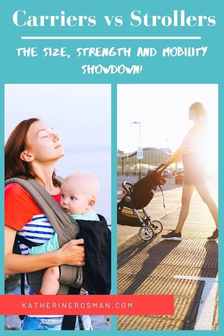 baby carrier or stroller for day trips and travel