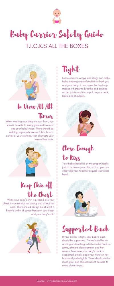 baby carrier safety infographic