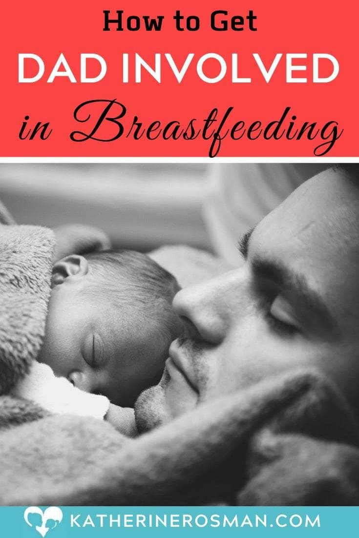 dad bonding with breastfed baby